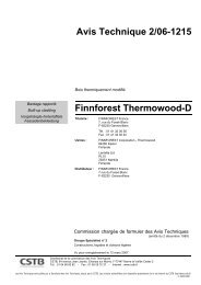Avis Technique 2/06-1215 Finnforest Thermowood-D - DuboLimburg
