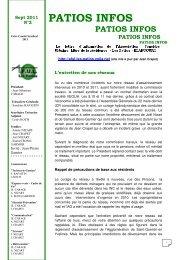 Patios infos 2 sept 2011