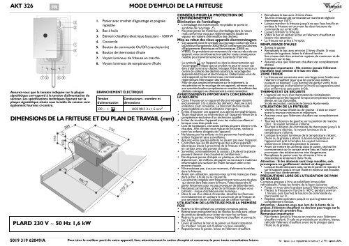 Akt 326 Mode Demploi De La Friteuse Boulanger