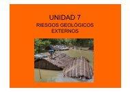 Apuntes T7. Riesgo geológicos externos - Carpeta de Medioambiente