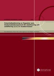 rapport 1129 Potentialbedömning av flygaskor ...