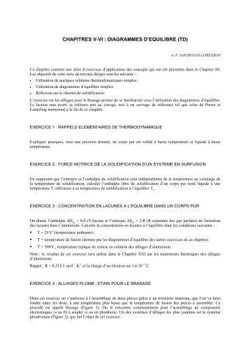 diagramme de phase binaire exercice corrige pdf