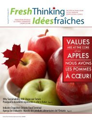 FreshThinking Idéesfraîches - Canadian Horticultural Council