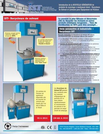 Recycleur de solvants - IST Surface