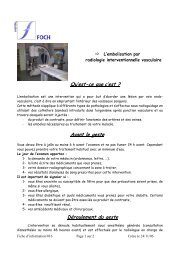 L'embolisation par radiologie interventionnelle ... - Hôpital Foch