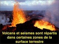 Volcans et seismes sont répartis dans certaines zones ... - Exobiologie