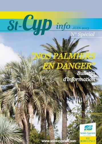 """n° special """"palmiers en danger"""" - Ville de Saint Cyprien"""