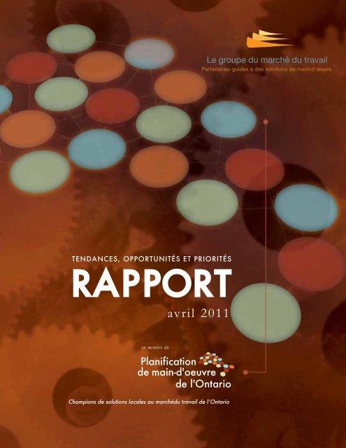 Rapport des tendances, possibilités et priorités 2011 - The Labour ...