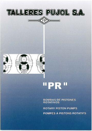 Bombas de Pistones Rotativos (Serie PR) - Talleres Pujol