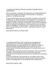 Textes Monique Tello