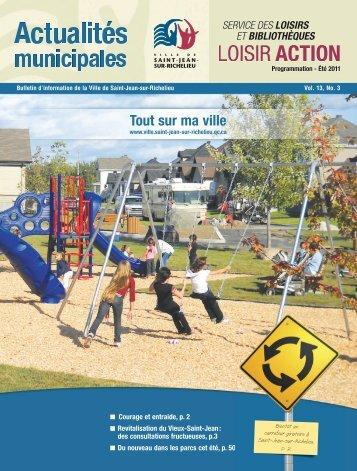 Actualités municipales - Ville de Saint-Jean-sur-Richelieu