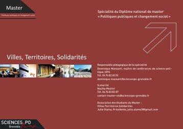 Villes, Territoires, Solidarités - Sciences Po Grenoble
