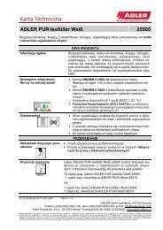 ADLER PUR-Isofüller Weiß 25505 - ADLER - Lacke