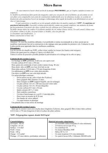 Notice Micro Baron 2-3 axes (format PDF - 463 Ko ) - Polymodel
