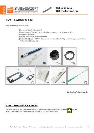 Notice de pose kit motorisation - Stores Discount
