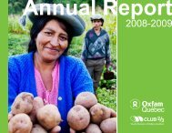 2008-2009 Annual report - Oxfam-Québec