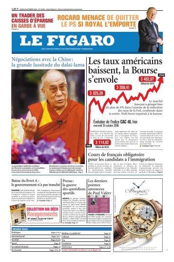 Les taux américains baissent, la Bourse s'envole - Le Figaro