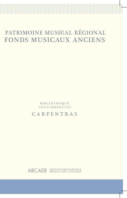 Carpentras (pdf) - Arcade PACA