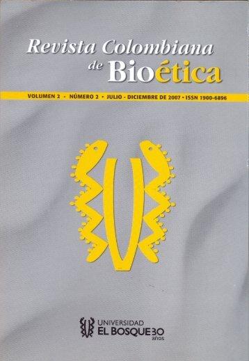 Descargue aquí la publicación - Departamento de Bioetica
