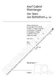 Page 1 Josef Gabriel Rheinberger Der Stern von Bethlehem 0,1164 ...