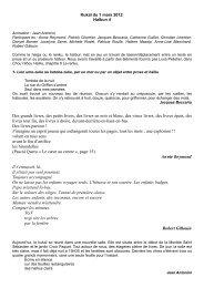 1er mars - Association francophone de haïku