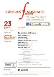 22 juin>12 juillet2012 - Les Flâneries Musicales de Reims