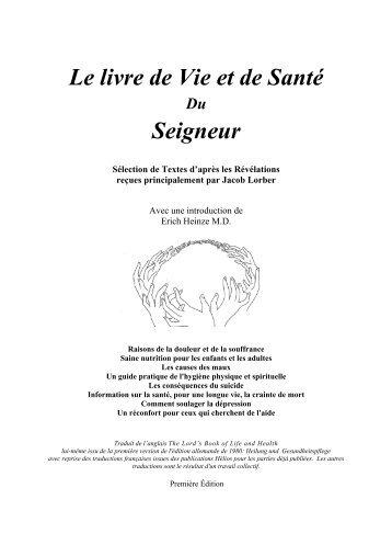 Le livre de Vie et de Sant du Seigneur - J. Lorber en francais ...
