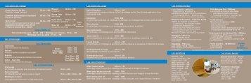 Télécharger la carte des soins - Holiday Inn Mulhouse
