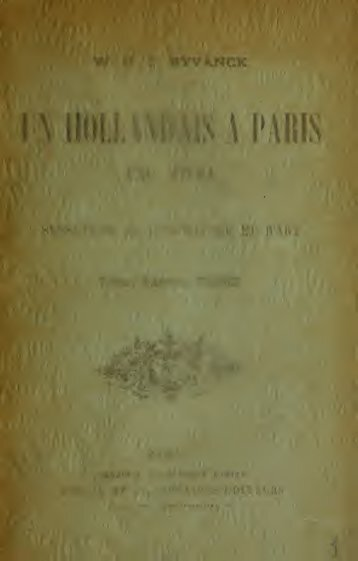 Un hollandais à Paris en 1891 : sensations de littérature et d'art