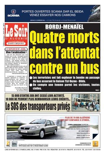 PAGE GABARIT - Le Soir d'Algérie