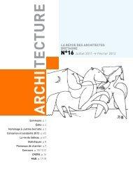 Revue n° 16 - Ordre des architectes