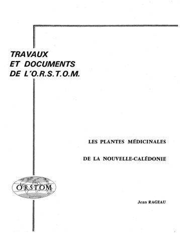 Les plantes médicinales de la Nouvelle Calédonie - IRD
