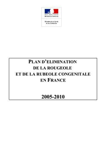 Plan d'élimination de la rougeole et de - NosoBase