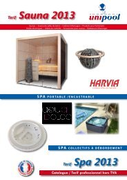 Sauna 2013 - Catalogue piscine en kit Unipool piscines et Fitness