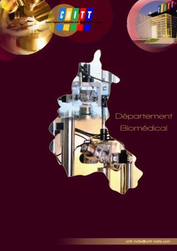 Télécharger le Livret Biomédical - CRITT MDTS