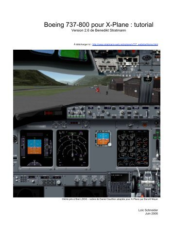 Boeing 737-800 pour X-Plane : tutorial - X-Plane FR - tuto - Free