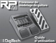 Guide d'utilisation - Digitech