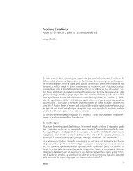 Motion, émotions - Laboratoires de théorie et d'histoire - EPFL