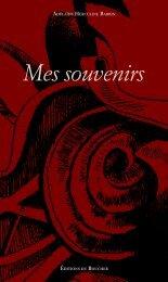 Mes souvenirs - Adélaïde Herculine Barbin - Éditions du Boucher