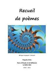 Recueil de poèmes - Parc La Belle Idée