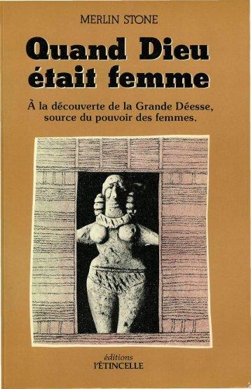 Quand Dieu était femme - Le Mouvement Matricien