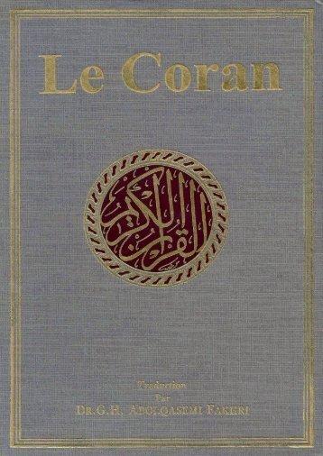 Lecture en ligne – Extrait (version pdf) - Le Noble Coran