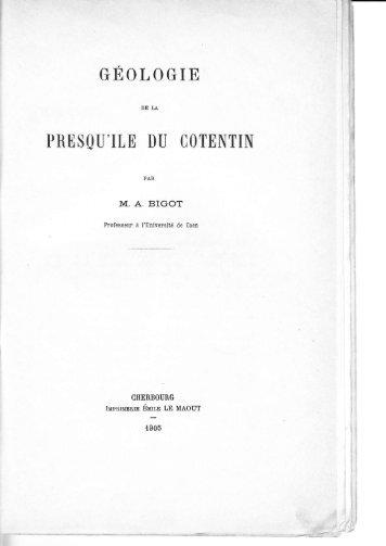 bigot - Sciences et Géologie Normandes