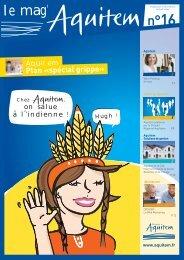 Télécharger le mag' Aquitem N°16 au format PDF