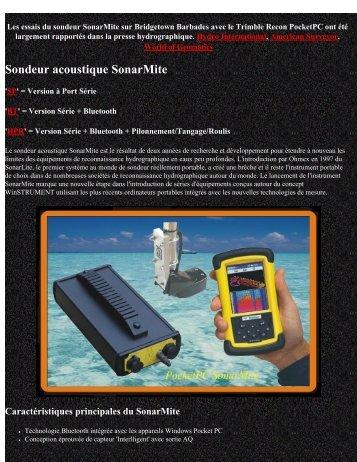 Sondeur acoustique SonarMite - Anhydre