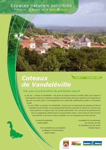 Coteaux de Vandeléville - Conseil général de Meurthe-et-Moselle