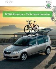 ŠKoDa roomster – tarifs des accessoires - Skoda