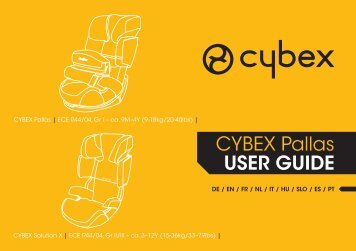 CYBEX Pallas USER GUIDE - Mamas & Papas