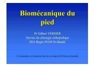 Biomécanique du pied - ClubOrtho.fr