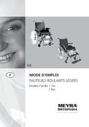 MODE D'EMPLOI FAUTEUILS ROULANTS LÉGERS - Meyra